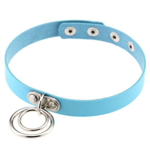 Choker Collar Ring O Leather Gothic  Bracelet Necklace Double Women Gift