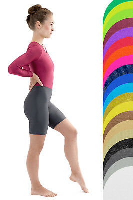 Damen Radler Marine Radlerhose Glanz shorts shiny stretch kurze Hose glänzend