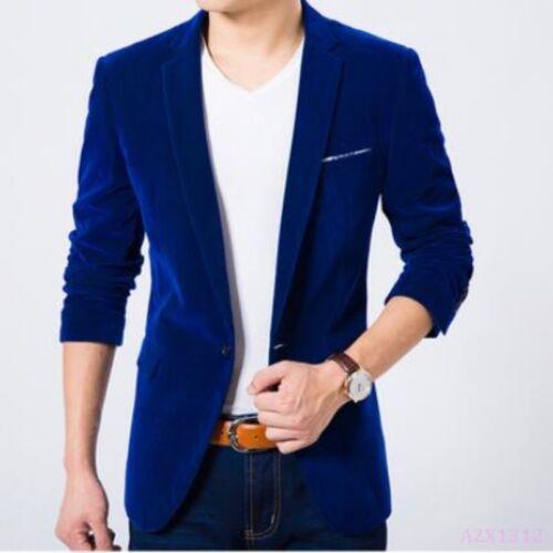 Mens Outwear Tuxedo Business Slim Fit Outfit Blazers Velvet Wedding Coat Jacket