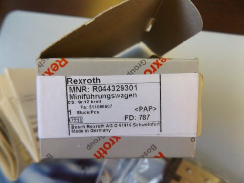 WHOLESALE LIQUIDATION PLC REXROTH MINI BALL RAIL SYSTEM R044329301 NEW IN BOX