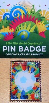 Pin + Plakat Motiv 9 + 2014 FIFA World Cup Brazil + 3,0x2,5 cm + OVP Lizenz #21