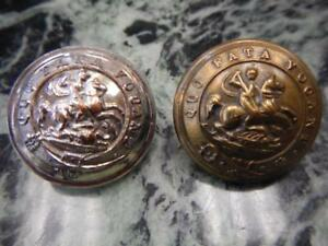 Details about 2 Rare Northumberland Fusiliers St  George Slaying Dragon  Military Brass Buttons