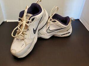 Nike Air Monarch Mens Size 10.5 Walking Shoe # 416355-102 String Laces White