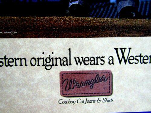 "Nolan Ryan Texas Rangers 1990 Wrangler Cowboy Cut Original Print Ad-8.5 x 11/"""