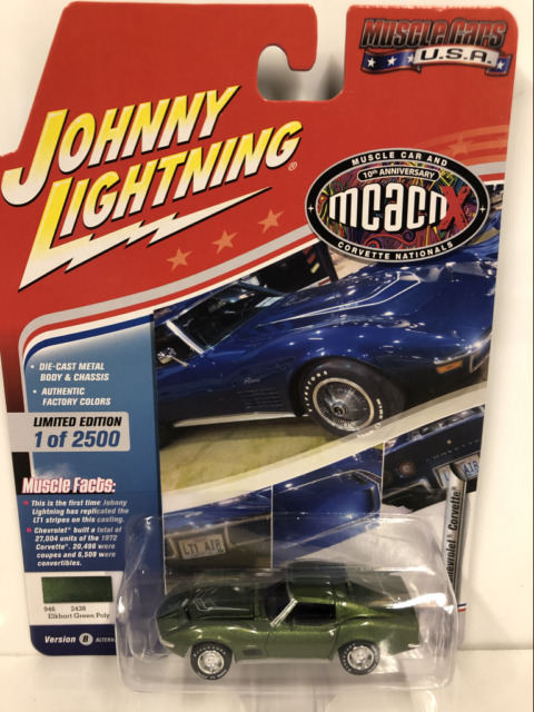 A.S.S NEU Johnny Lightning 1//64 Chevy Chevrolet Corvair Cars n Coffee Muscle Car