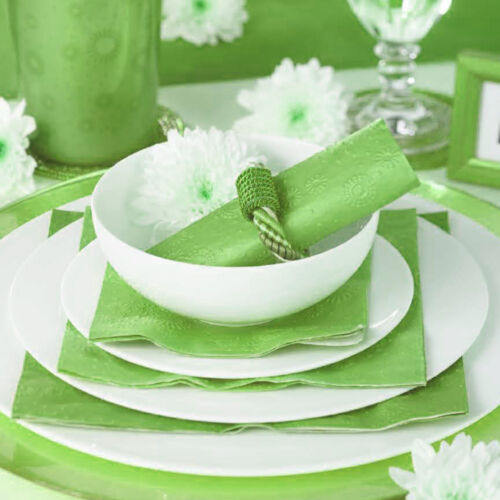 Servietten Moment Uno 16 Stk silber Lunchservietten Tischdeko Hochzeit