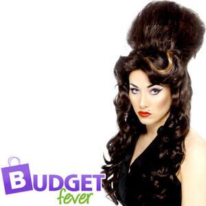 a792be017467 Amy Winehouse Wig Ladies Fancy Dress Pop Celebrity Beehive Costume ...