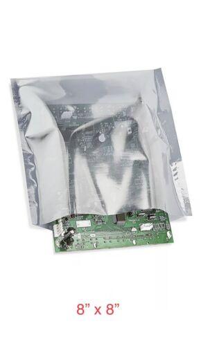 """50 Pcs 8"""" X 8"""" Open Top Anti static Shielding Bags"""