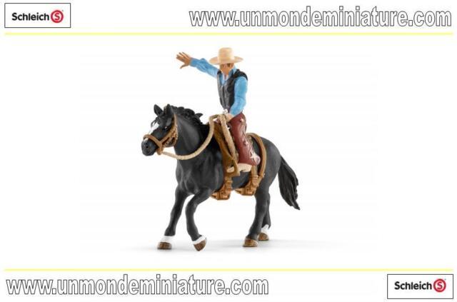 Farm World Selle western avec un cowboy  SCHLEICH - SC 41416