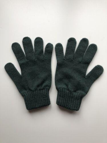 100/% Pure Cashmere Womens Dark Green Gloves Made In Scotland BNWT Warm Soft