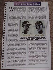 Sandy-Koufax-Don-Drysdale-1990-Baseball-Card-Engagement-Book-w-1966-WS-Program