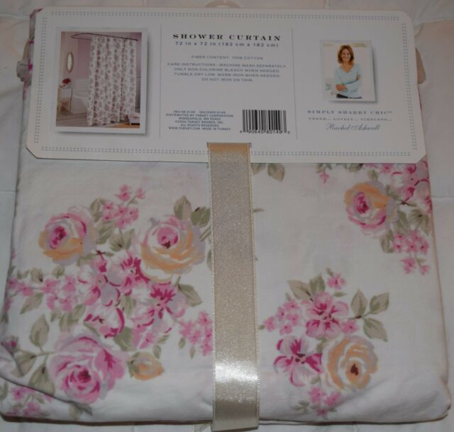 Rachel Ashwell Simply Shabby Chic Blush Beauty Shower Curtain Pink Cabbage Roses For Sale Online