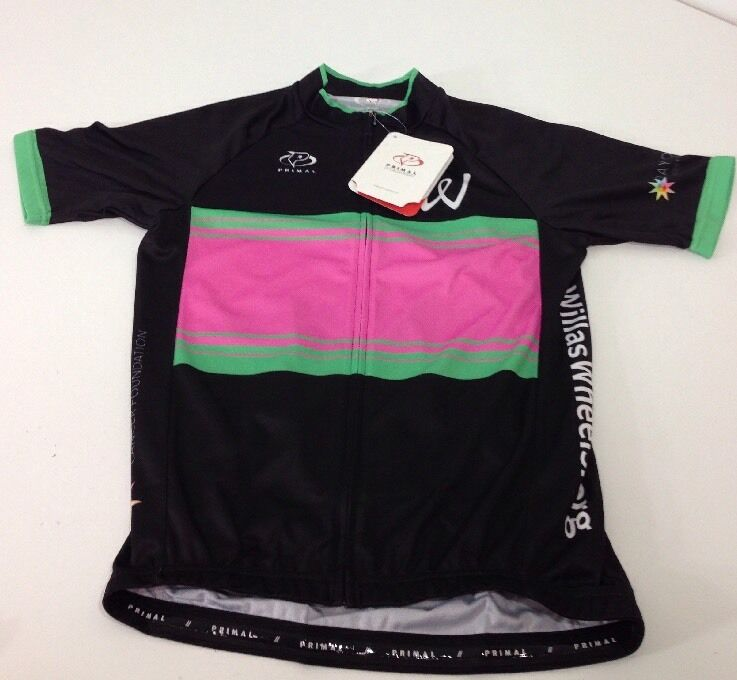 NWT Primal Cycling Apparel  Willa's Wheels 2015  Mens Race Cut Raglan Jersey MED
