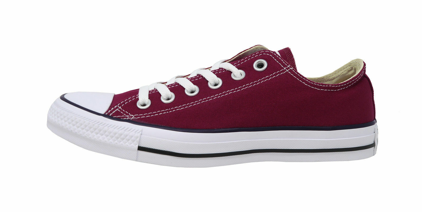 Converse Chuck Taylor Canvas Unisex Low Top 139794F Burgundy Free Shipping