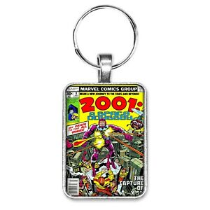 2001-A-Space-Odyssey-8-Cover-Key-Ring-or-Necklace-1st-Machine-Man-Jack-Kirby