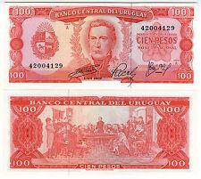 **   URUGUAY     100  pesos   1967   p-47a    UNC   **