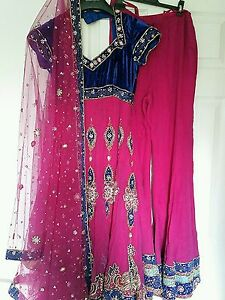 7ee90232f95 Image is loading SHOCKING-PINK-amp-ROYAL-BLUE-HEAVY-JEWELLED-DIAMANTE-
