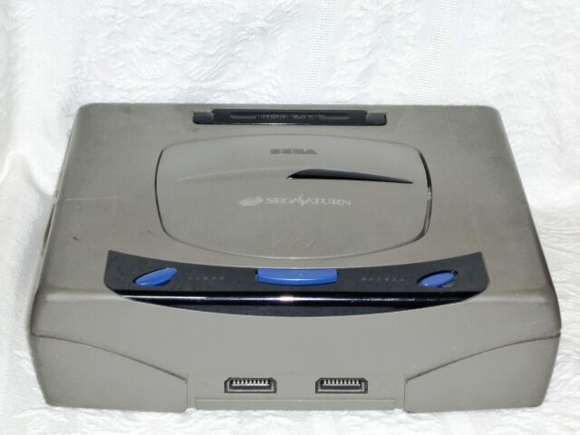 WOW! Sega Saturn - Game console System RARE! Japan Black