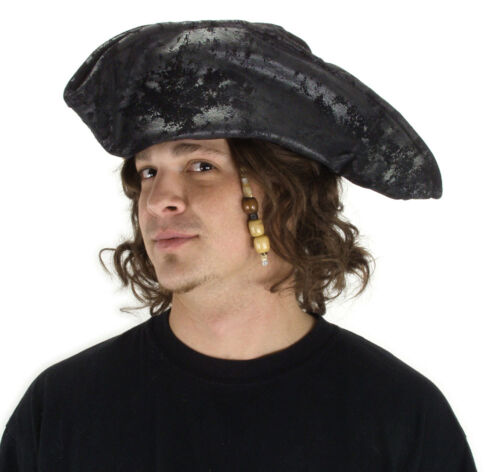 Tricorne Hat Pirate Hat Distressed Faux Suede Pirate Costume Hat Colonial 3454