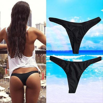 Hot Sexy Women Brazilian Bikini Swimwear T-Back G-String Thong Bottom Beach Suit