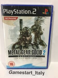 METAL-GEAR-SOLID-2-SUBSTANCE-SONY-PS2-NUOVO-SIGILLATO-NEW-SEALED-PAL-UK