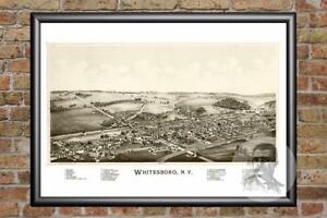Vintage-Whitesboro-NY-Map-1891-Historic-New-York-Art-Old-Victorian-Industrial