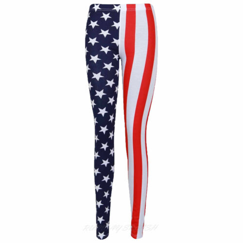 WOMEN/'S LADIES FULL LENGTH MULTI PRINT LEGGINGS STRETCH CASUAL PANTS SIZE 8-26