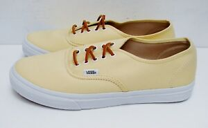 Image is loading VANS-Authentic-Brushed-Twill-Canary-Yellow-Men-039- 85443a181