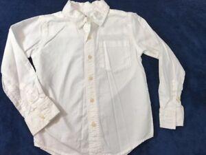 977a8505038 Carters Button Front Shirt Boys Sz 4 White Long Sleeve School ...