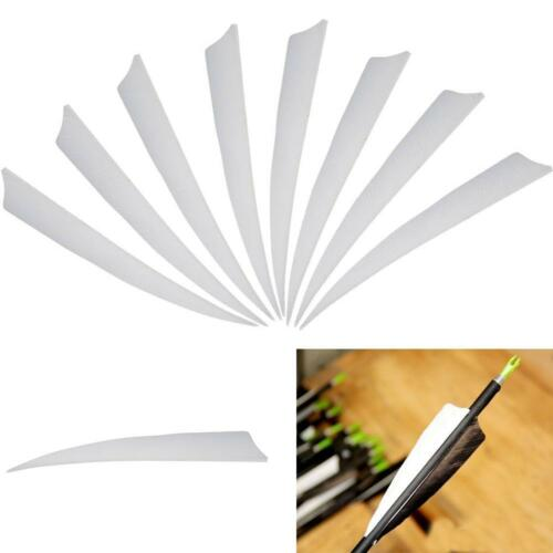 50pcs Archery 5/'/' Turkey Feathers Arrow Fletching Shield Shape Left Wing