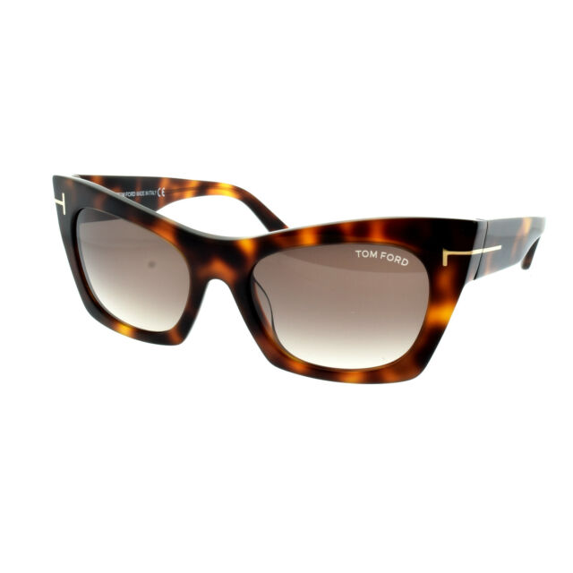 82a6d15d9d Tom Ford FT0459 56F Havana Mujer Borde Completo Cat Eye Gafas de Sol