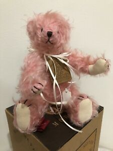 COURTNEY-Mary-Meyer-Mohair-pink-10-034-jointed-plush-bear