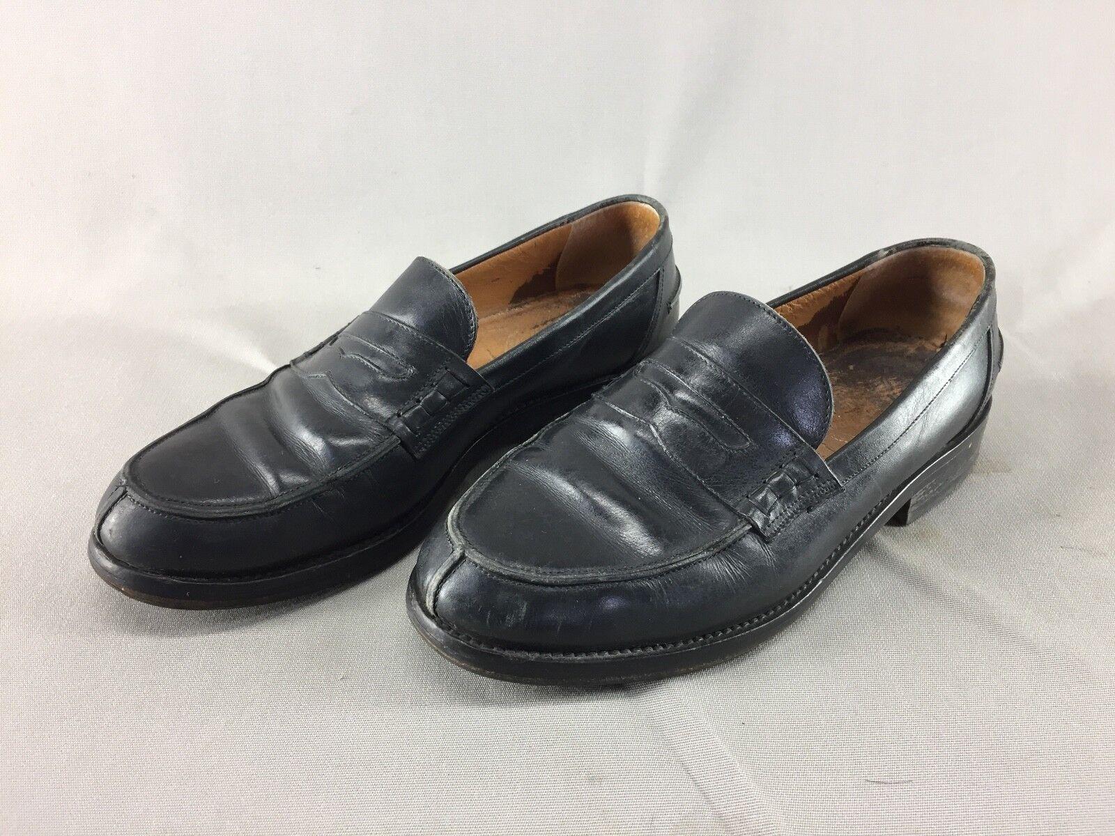 shoes de ville mocassins cuir artisanal ITALIE  black t 40 CEC vintage SAC G