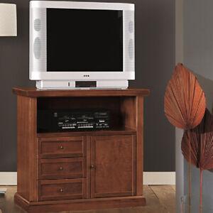 Mobile Porta Tv Legno Arte Povera.Mobile Porta Tv In Legno 84 40 80 H Noce Arte Povera Ebay