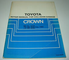 Body Repair Manual Toyota Crown MS 122 123 YS 120 LS 120 Collision Damage 8/1983