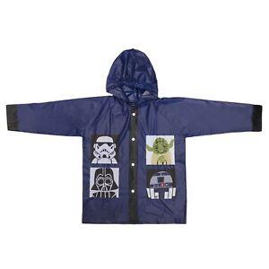 Star-Wars-Kinder-Poncho-blau-Regenjacke-mit-Kapuze-Jacke-Groesse-128