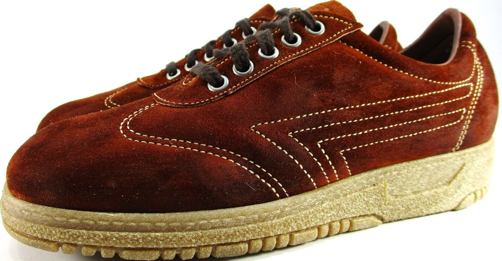 Crosby Square Juniors Men suede Shoes Size 6.5 Brown Style 5091 Made In USA