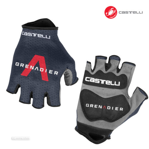 NEW 2021 Castelli INEOS GRENADIERS TRACK MITTS Cycling Gloves SAVILE BLUE