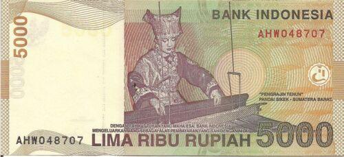 Indonesia P142a Tuanku Imam Bonjol weaver UNC 2001 see UV /& WM 5000 Rupiah