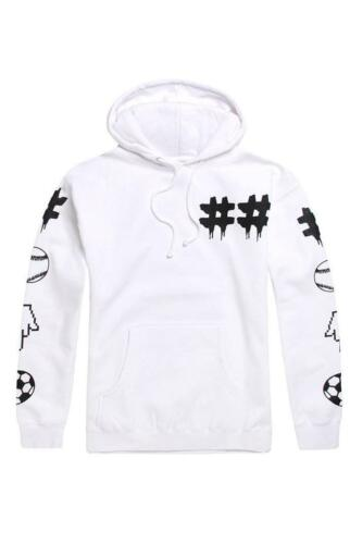 Been Trill Sports Mall Ratz Mens White Fleece Pullover Hoodie Sweatshirt NEW NWT