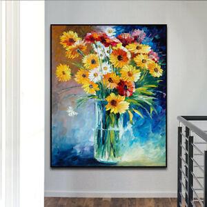 YA1807-Home-decor-36-034-100-Hand-painted-oil-painting-Flower-daisy-Unframed