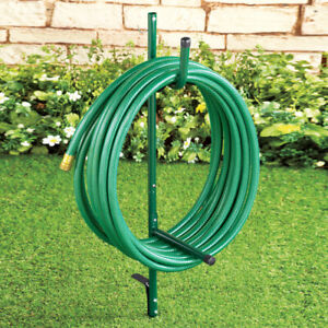 Details about Easy-To-Install Sturdy Portable Garden Hose Storage Caddy