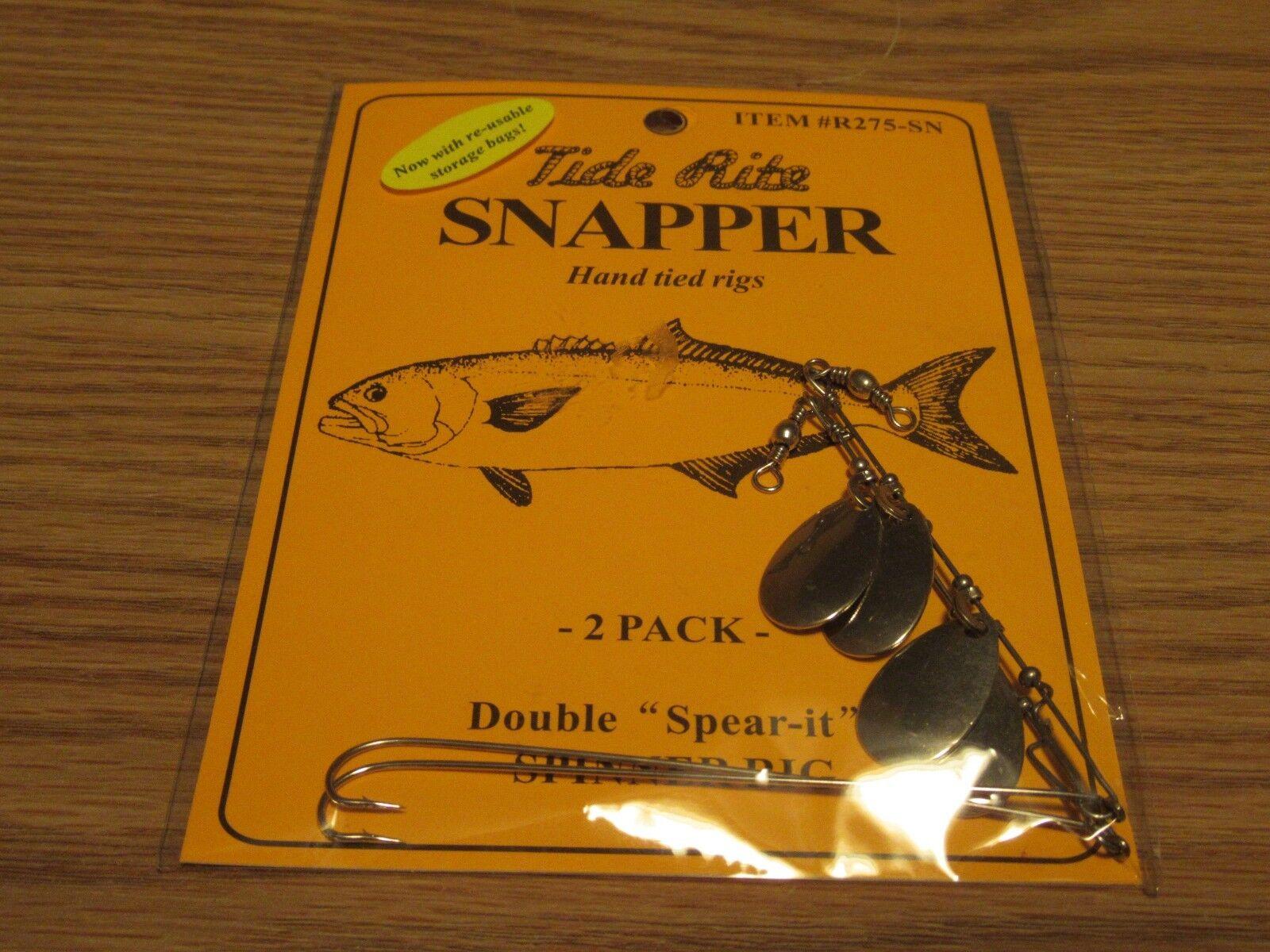 24 TIDE RITE SNAPPER blueE POPPER STOPPER  R275SN  SPINNER RIG 2PK FISHING RIGS  hot sale
