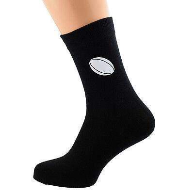 X6N113 Rugby Design Mens Socks Fun Novelty Adult UK Size 5-12