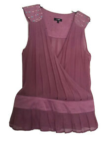womens-tops-Light-purple-size-10-Viscose-material-in-good-condition