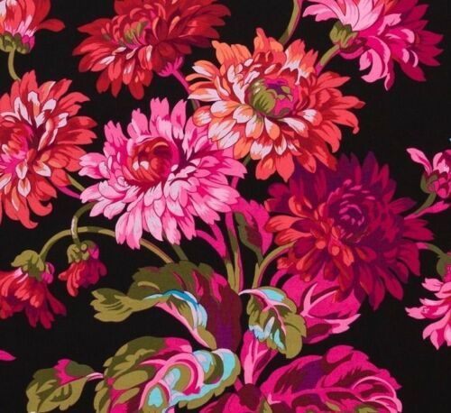 Cotton Quilting Fabrics 1//2 Yard Kaffe Fassett Anne Marie BLACK