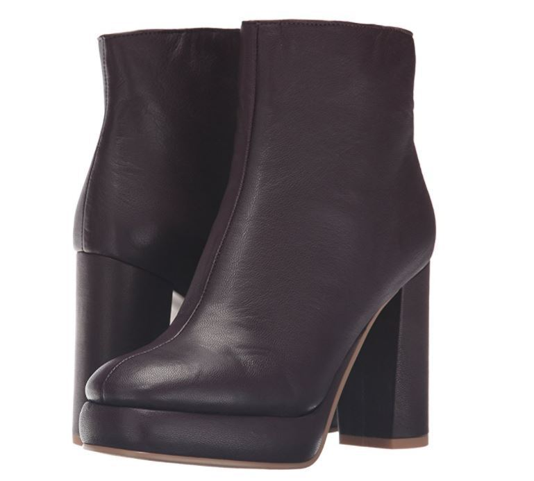 NEW See By Chloe FA-Lisa US 8.5 Dark lila Leather Ankle Stiefel Stiefelies BOX