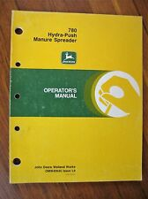 John Deere 780 Hydra-Push Manure Spreader Operator's Manual