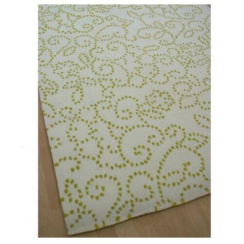 Soldes  Tapis Handtuft Blanc Vert Pinball 140x200 cm Neuf Ratex Espina Style