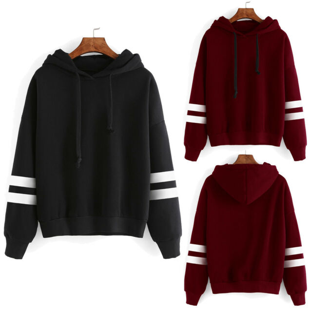 Women Casual Hoody Hoodie Sweatshirt Long Sleeve Sweater Pullover Tops Coat Lot
